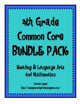 4th Grade Common Core BUNDLE {Reading & Language Arts; Mathematics}