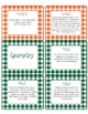 4th Grade Common Core CCSS Labels and Posters Math and ELA-Gingham Print