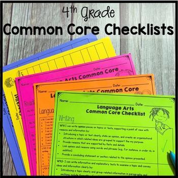4th Grade Common Core Checklists