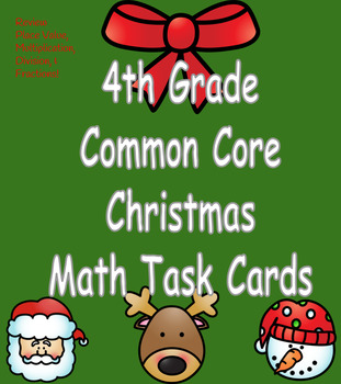 4th Grade Common Core Christmas Math Task Cards