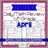 Math Morning Work 4th Grade April Editable