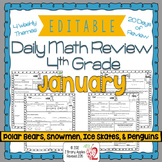 Math Morning Work 4th Grade January Editable