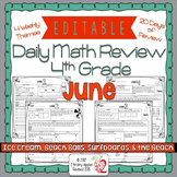Math Morning Work 4th Grade June Editable