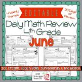 Math Morning Work 4th Grade June Editable