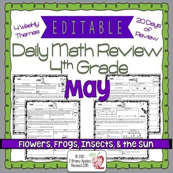 Math Morning Work 4th Grade May Editable