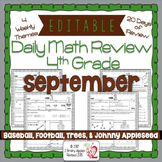 Math Morning Work 4th Grade September Editable