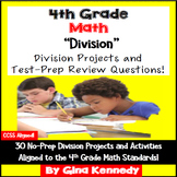 4th Grade Division, 30 Enrichment Projects and 30 Test-Prep Problems