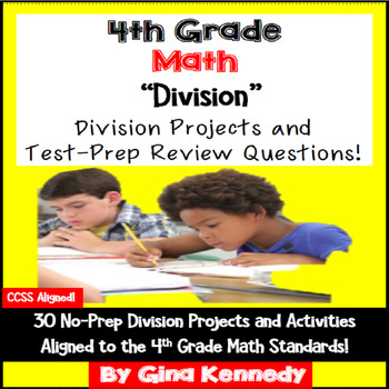 4th Grade Division, 30 Enrichment Projects and 30 Test-Pre