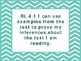 "4th Grade Common Core ELA ""I Can"" Statements/Learning Targets (Chevron)"