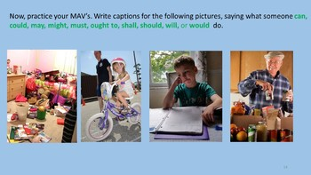 4th Grade Common Core Grammar with Captions and Classic Lit CCSS L4.1A to L4.1D
