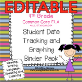 Editable Student Data Tracking Binder | Data Graphing: 4th Grade ELA Literacy
