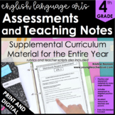 ELA Assessments - Language Arts Assessment for 4th Grade - ELA Test Prep