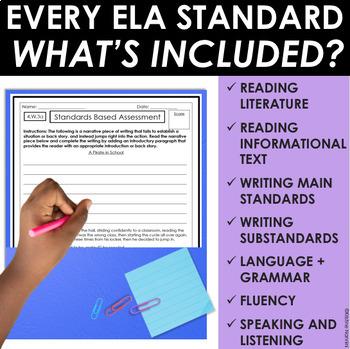 ELA Assessments - Language Arts Assessment for 4th Grade - ELA Test Prep