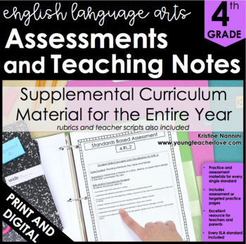 4th Grade ELA Assessments - Reading Comprehension - Grammar - Writing
