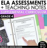 4th Grade ELA Assessments - Reading Comprehension - Grammar - Writing