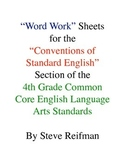 "4th Grade Common Core English Language Arts ""Word Work"" Activities"