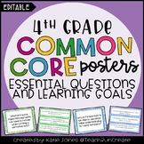 4th Grade EDITABLE Essential Questions & Learning Goals