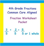 4th Grade Common-Core Fraction Word Problems, Multiplicati