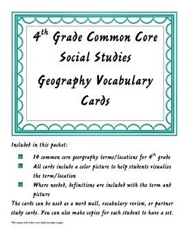 4th Grade Common Core Geography