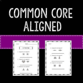 Geometry Math Exit Slips Assessments 4th Grade Common Core
