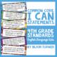 "4th Grade Common Core ""I CAN"" Statements - ELA/Math BUNDLE"