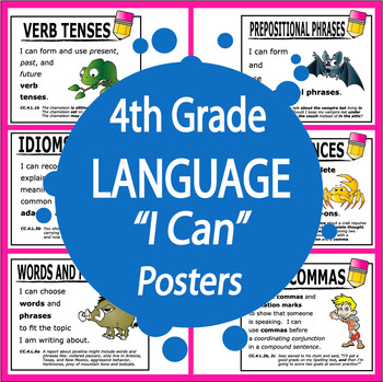 "4th Grade Language ""I Can"" Posters (25 FULL COLOR Posters!)"