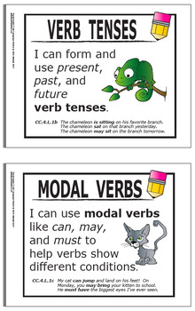 "4th Grade LANGUAGE ""I Can"" Posters (25 FULL COLOR 4th Grade ELA Posters!)"
