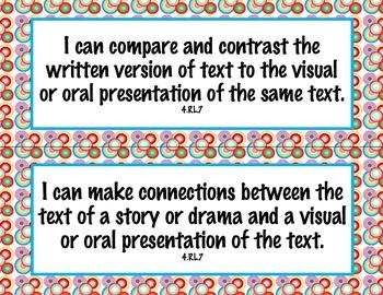 4th Grade Common Core I Can Statements {Retro Circles Theme}