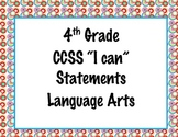 4th Grade Common Core I Can Statements {Retro Circles Theme}
