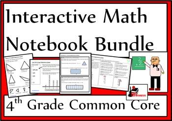 4th Grade Common Core Interactive Math Notebook Bundle