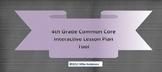 4th Grade Common Core Interactive School Year Lesson Plan Tool