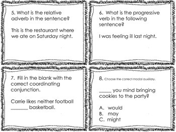 4th Grade Common Core Language Review Set 3 Test Prep