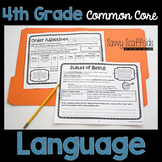 4th Grade Language Graphic Organizers for Common Core