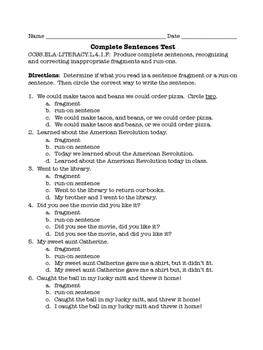 4th Grade Language Tests for Each Common Core / TNReady Standard