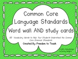 4th Grade Common Core Language/grammar Word Wall/Test Stud