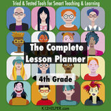 4th Grade Lesson Plan Template: All Subjects w/ Common Cor