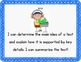 """4th Grade Common Core Literacy Posters - """"I Can"""" Statements"""