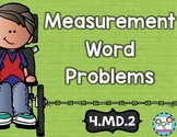 Measurement Word Problems Math Tasks and Exit Tickets