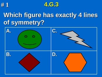 4th Grade Common Core Math - 4.G.3 Identify Lines of Symmetry