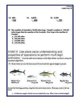 4th Grade Common Core Math 4.NBT.4 Assessment Form B