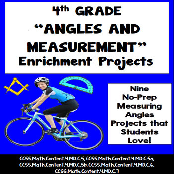 4th Grade Angles and Measurement Projects, Vocabulary Handout!