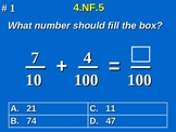 4th Grade Common Core Math - Add & Express Fractions As Equivalent 4.NF.5