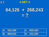 4th Grade Common Core Math - Add and Subtract Multi-Digit Whole Numbers 4.NBT.4