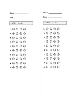 4th Grade Common Core Math Assessment:  4.NBT.3 Place Value:  Rounding Numbers
