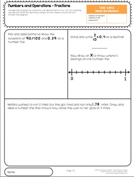 4th Grade Common Core Math Assessment - Fractions
