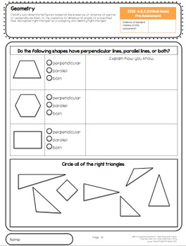 4th Grade Common Core Math Assessment - Geometry