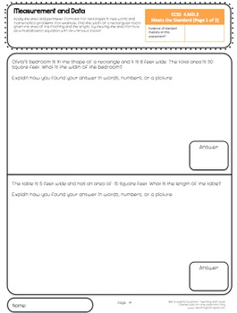 4th Grade Common Core Math Assessment - Measurement and Data