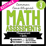 4th Grade Common Core Math Assessment - Measurement and Data