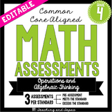 4th Grade Common Core Math Assessment -Operations and Alge