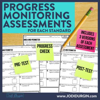 4th Grade  Math Assessments | Progress Monitoring | Quick Checks | Data Tracking